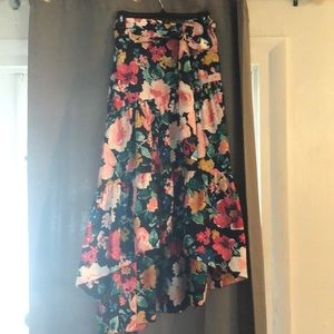 Eliza J high low floral gown skirt